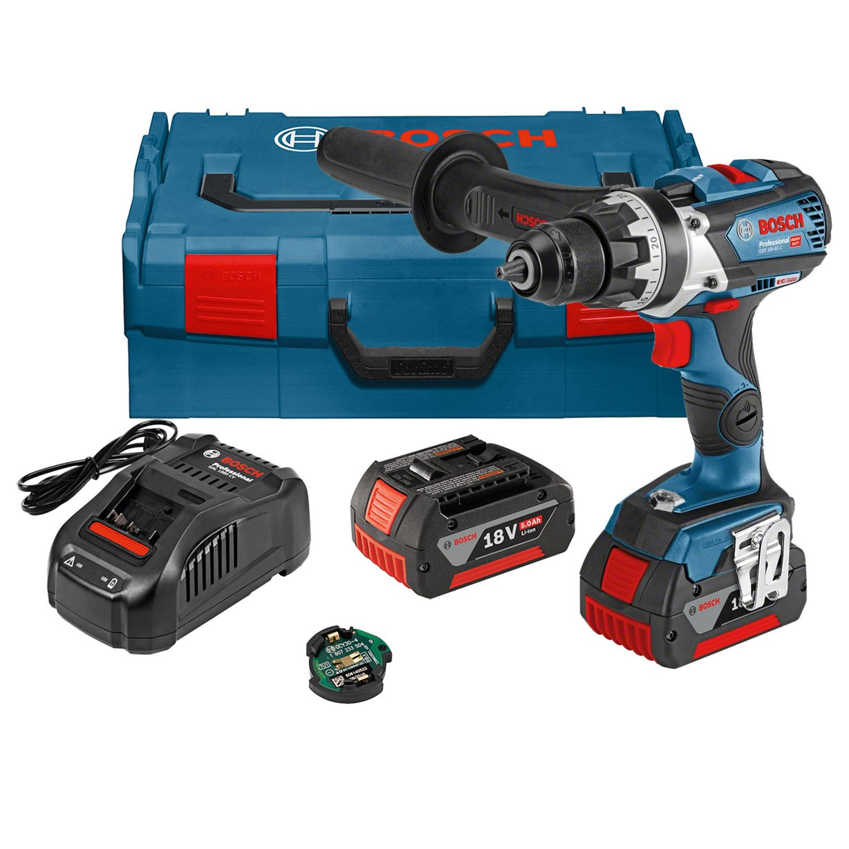 Bosch GSR 18 V-85 C Brushless Drill Driver inc GCY 30-4 Module & 2x 5.0Ah Batts