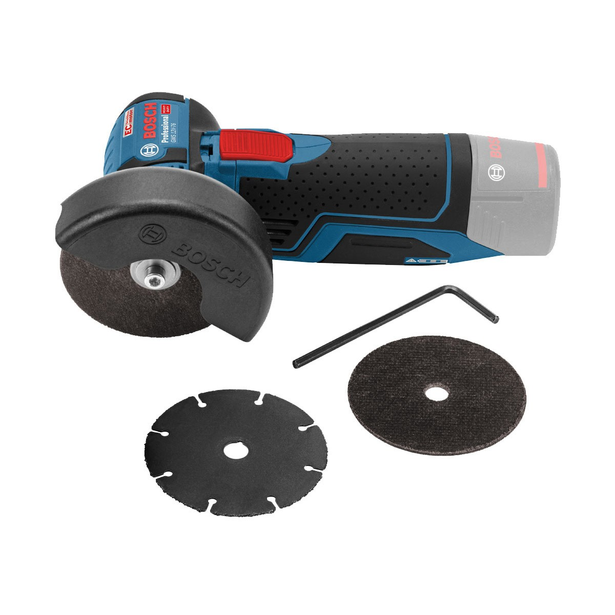 Bosch GWS 12V-76 12v Cordless Brushless Angle Grinder Body Only 76mm / 3""