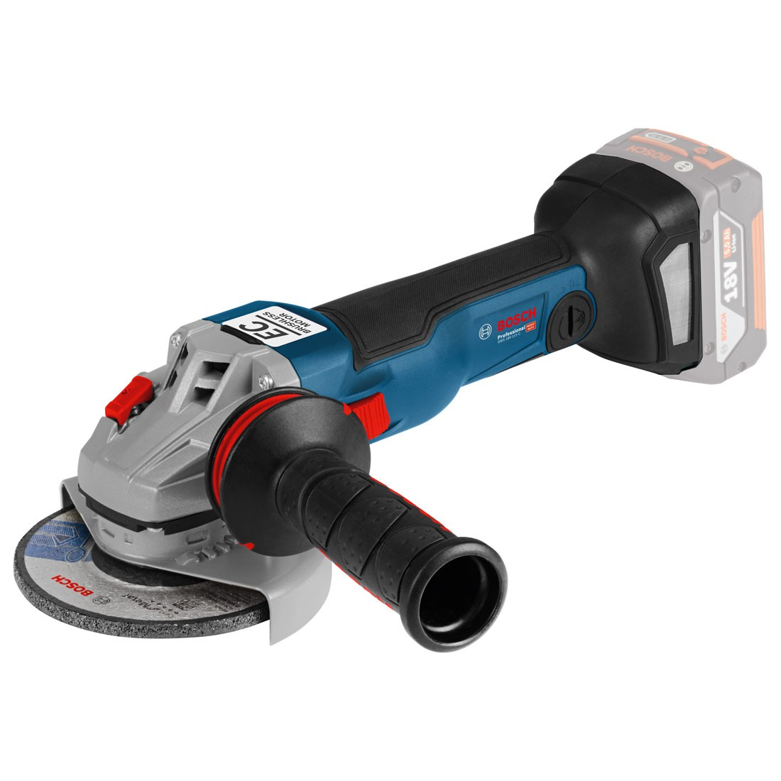 """Bosch GWS 18V-115 C Brushless Angle Grinder Body Only in Carton 115mm / 4.5"""""""