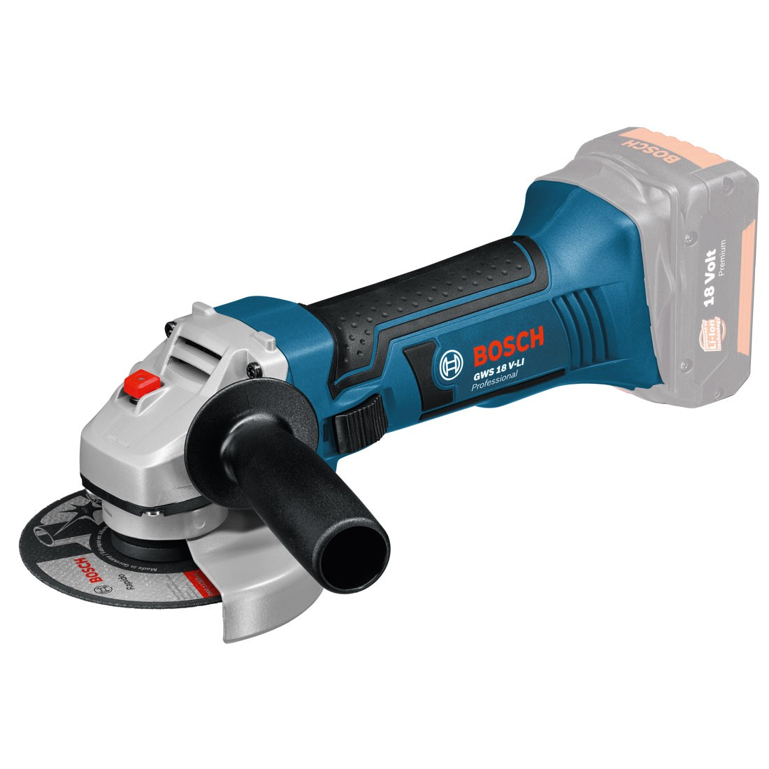 Bosch GWS 18 V-LI Angle Grinder Body Only in Carton 115mm / 4.5""