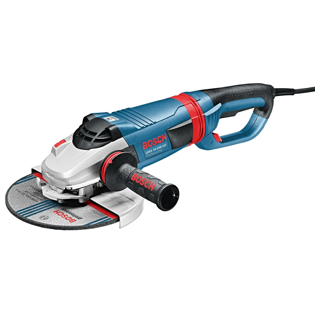 Bosch GWS 24-230 LVI Angle Grinder with Vibration Control Handle 230mm / 9""