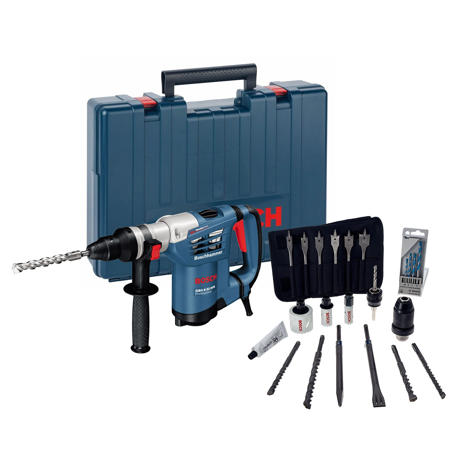 bosch gbh 4 32 dfr sds rotary hammer with qcc powertool world. Black Bedroom Furniture Sets. Home Design Ideas