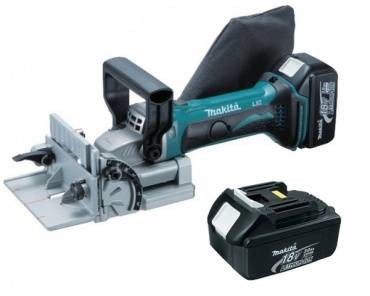 Makita BPJ180RFE 18V BISCUIT JOINTER LI-ION INC 2X 3Ah BATT