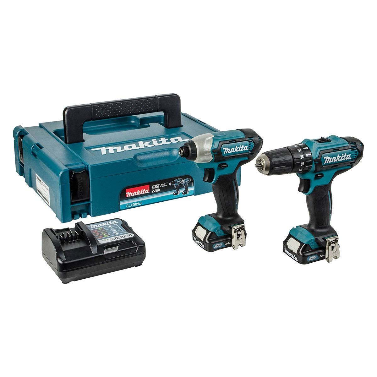 makita drill set clx202aj cxt slide twin pack combi. Black Bedroom Furniture Sets. Home Design Ideas