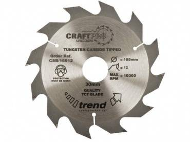 Trend CSB/13012 CraftPro Saw Blade 130mm x 12 th. x 20mm