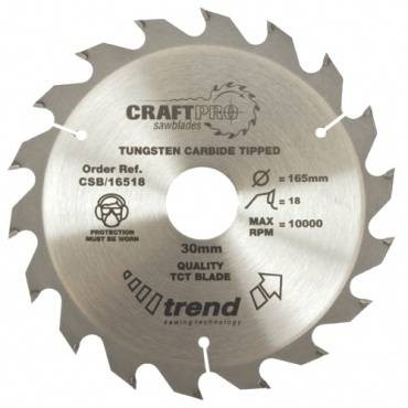 Trend CSB/16518 CraftPro Saw Blade 165mm x 18 th. x 30mm