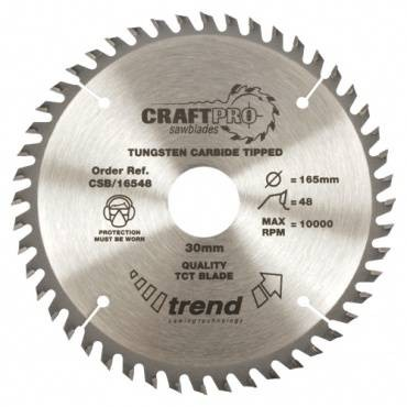 Trend CSB/16548 CraftPro Saw Blade 165mm x 48 th. x 30mm