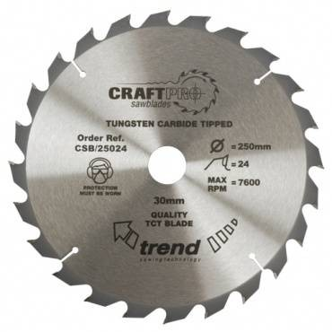 Trend CSB/25024 CraftPro Saw Blade 250mm x 24 th. x 30mm