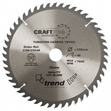 Trend CSB/25048 CraftPro Saw Blade 250mm x 48 th. x 30mm