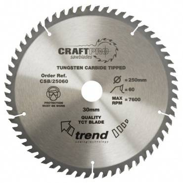 Trend CSB/25060 CraftPro Saw Blade 250mm x 60 th. x 30mm