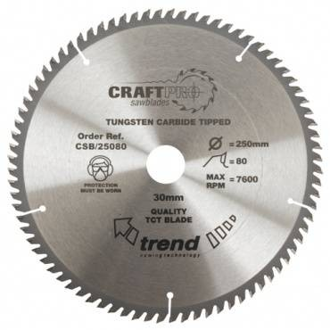 Trend CSB/25080 CraftPro Saw Blade 250mm x 80 th. x 30mm