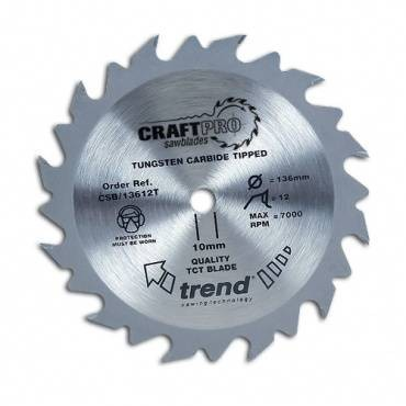 Trend CSB/13624T CraftPro Saw Blade 136 x 24 th. x 10 thin