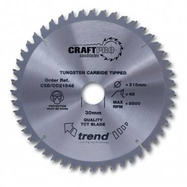 Trend CSB/CC21548 CraftPro Saw Blade crosscut 215mm x 48 th. x 30mm