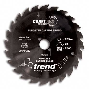 Trend CSB/TC19024T CraftPro Saw Blade 190mm x 24 th. x 30mm thin