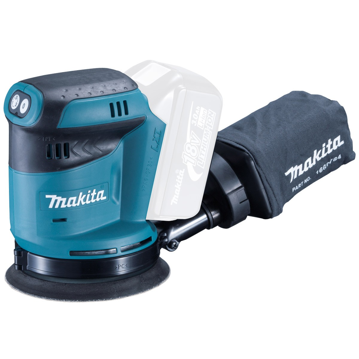 Makita DBO180Z LXT 18v 125mm Random Orbit Sander Body Only
