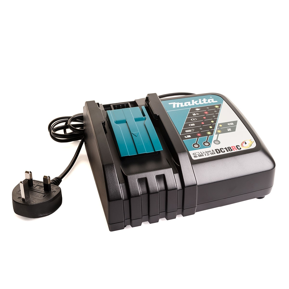 Makita dc18rc 18v li ion fast battery charger 7 2 18v powertool world - Batterie makita 18v ...