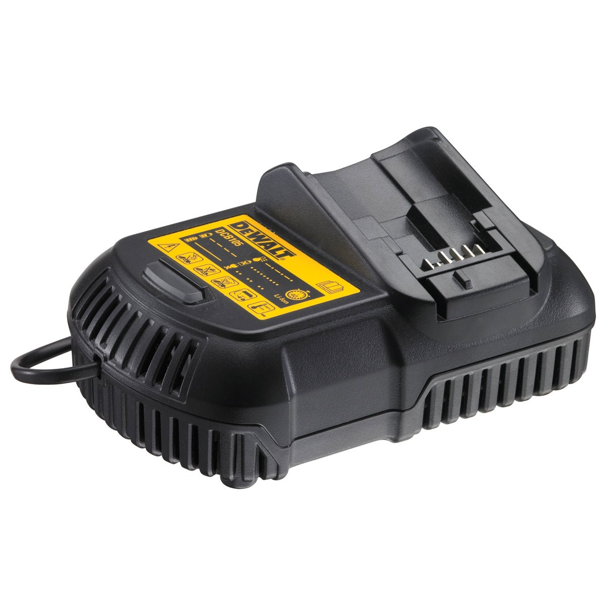 DeWalt DCB105 Lithium-Ion Battery Charger for 10.8v, 14.4v and 18v XR Batteries