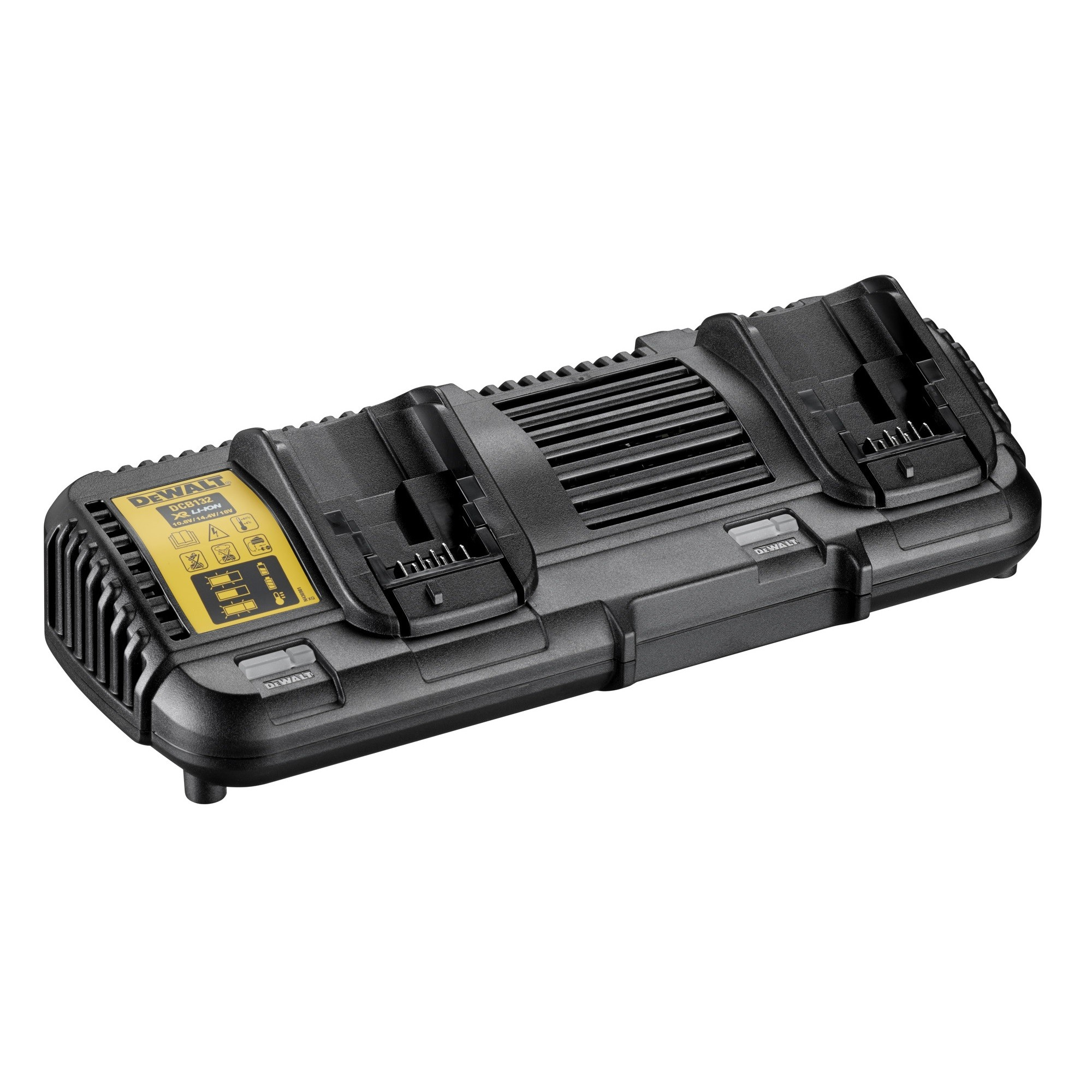 DeWalt DCB132 Dual Port Twin Battery Charger for 10.8v, 14.4v, 18v XR & 54v XR FLEXVOLT Li-Ion Batteries