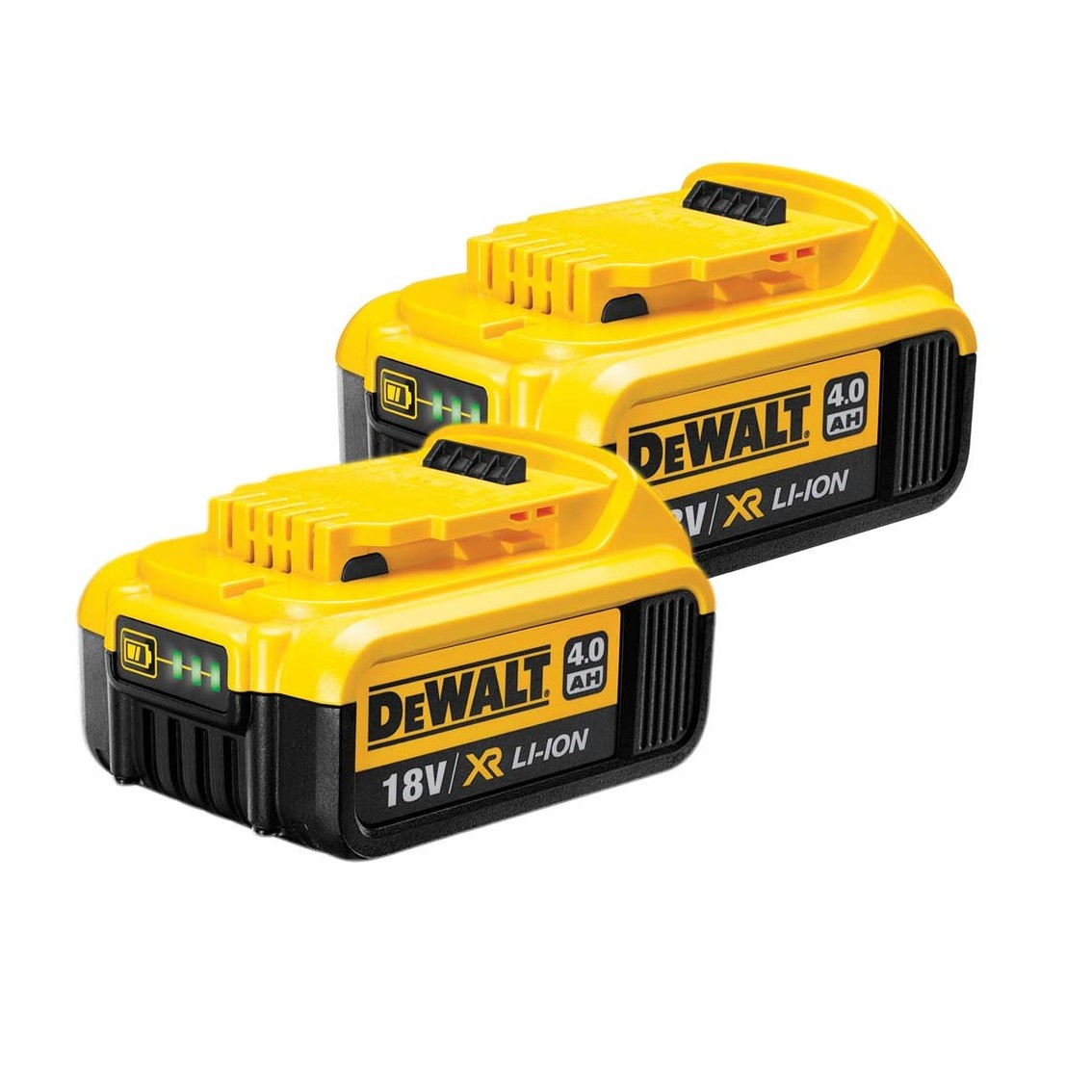 dewalt dcb182x2 18v 4ah li ion xr slide battery twin pack. Black Bedroom Furniture Sets. Home Design Ideas