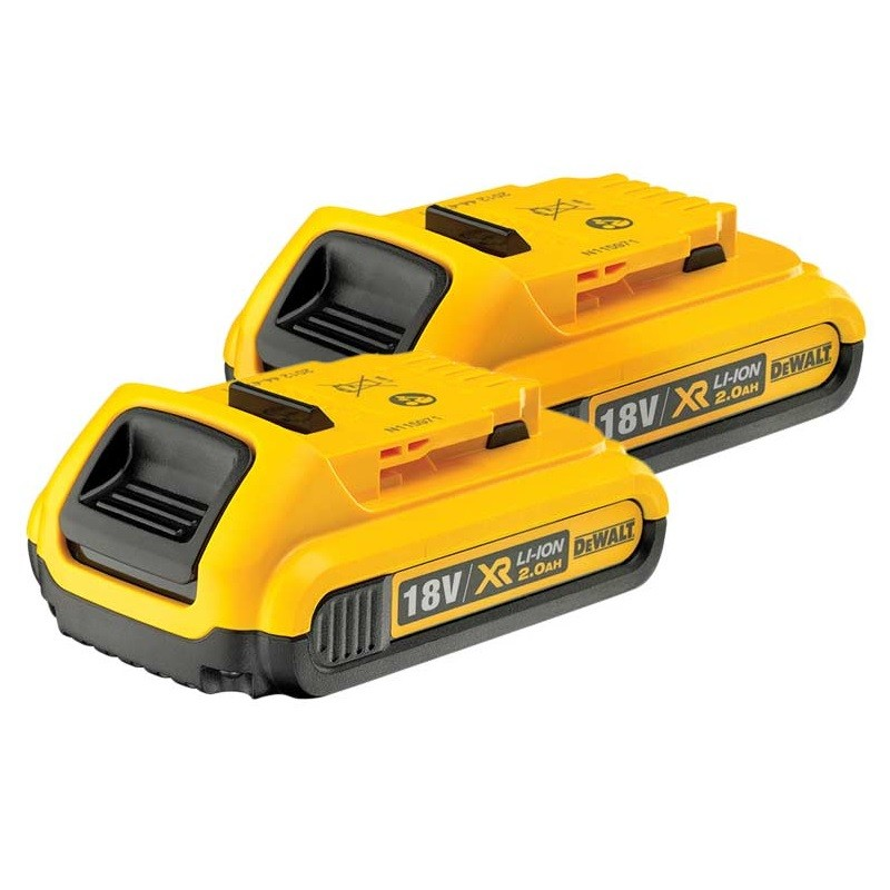 DeWalt DCB183X2 18v XR Slide 2.0Ah Li-Ion Battery Twin Pack