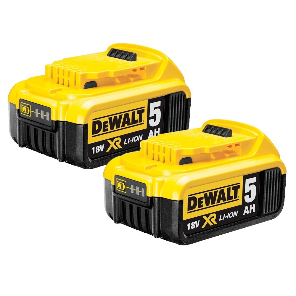 DeWalt DCB184X2 18v 5Ah Li-Ion XR Slide Battery Twin Pack