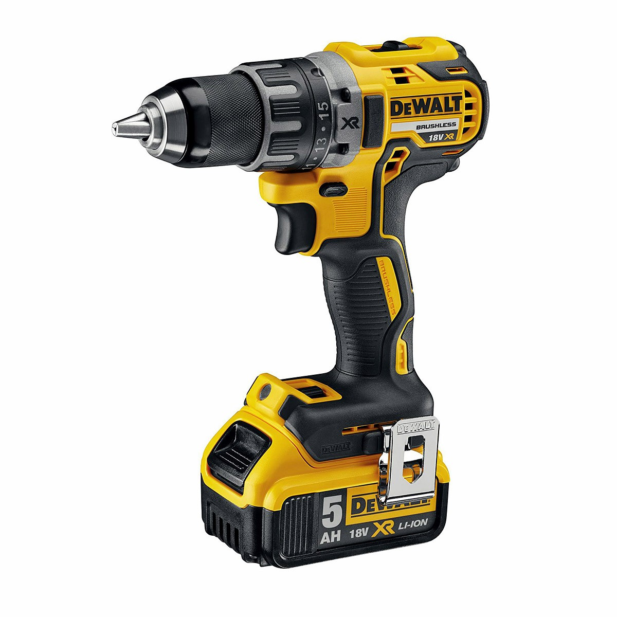 DeWalt DCD791P2 18v XR Brushless Compact Drill Driver with 2x 5.0Ah Batts in TSTAK Case