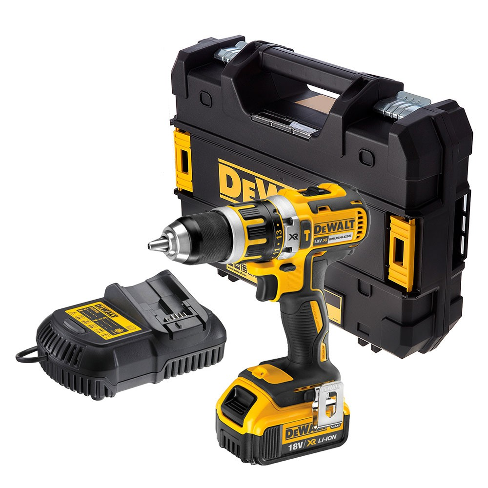DeWalt DCD795M1 XR 18v Brushless Combi Drill inc 1x 4.0Ah Battery