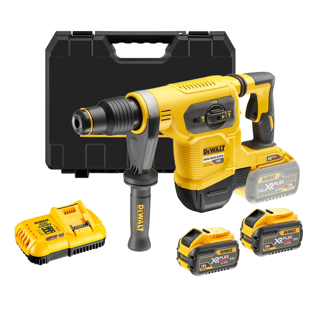 DeWalt DCH481X2-GB 54v XR FLEXVOLT Cordless Brushless SDS MAX Hammer ...