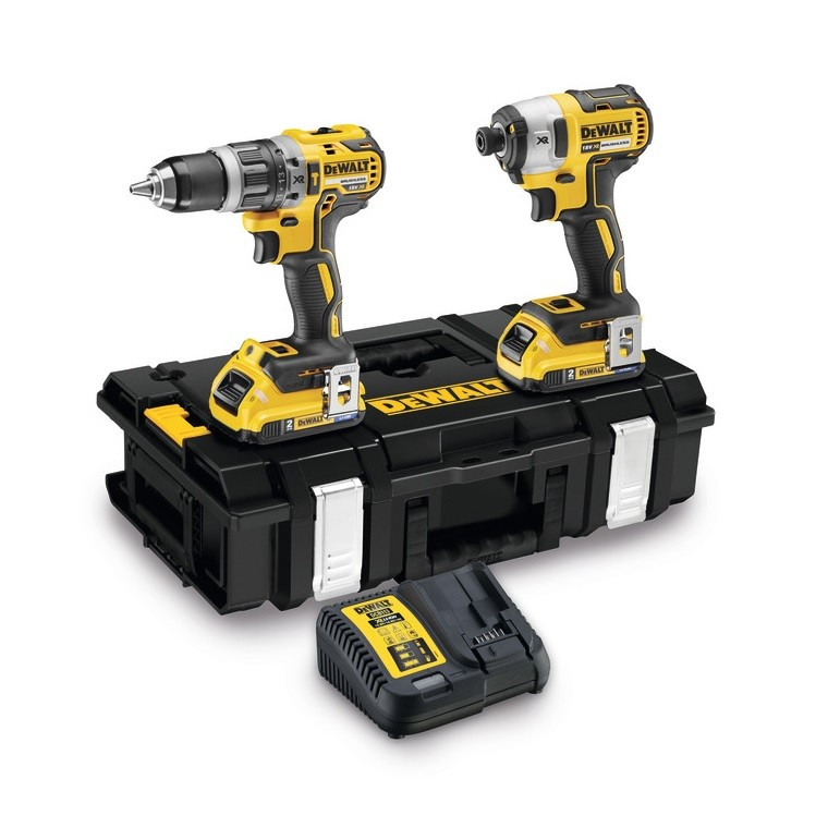 DeWalt DCK266D2B Brushless 18v Combi Drill & Impact Driver inc 2x 2Ah Bluetooth Batts