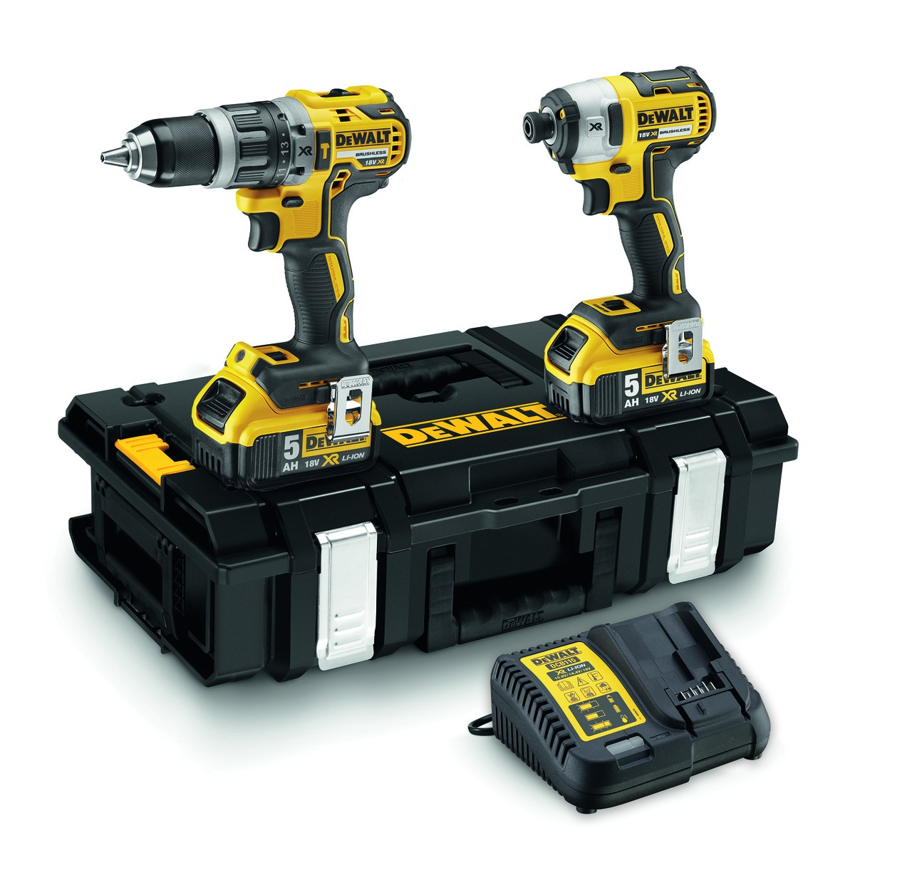 DeWalt DCK266P2 Brushless 18v Combi Drill & Impact Driver inc 2x 5Ah Batts