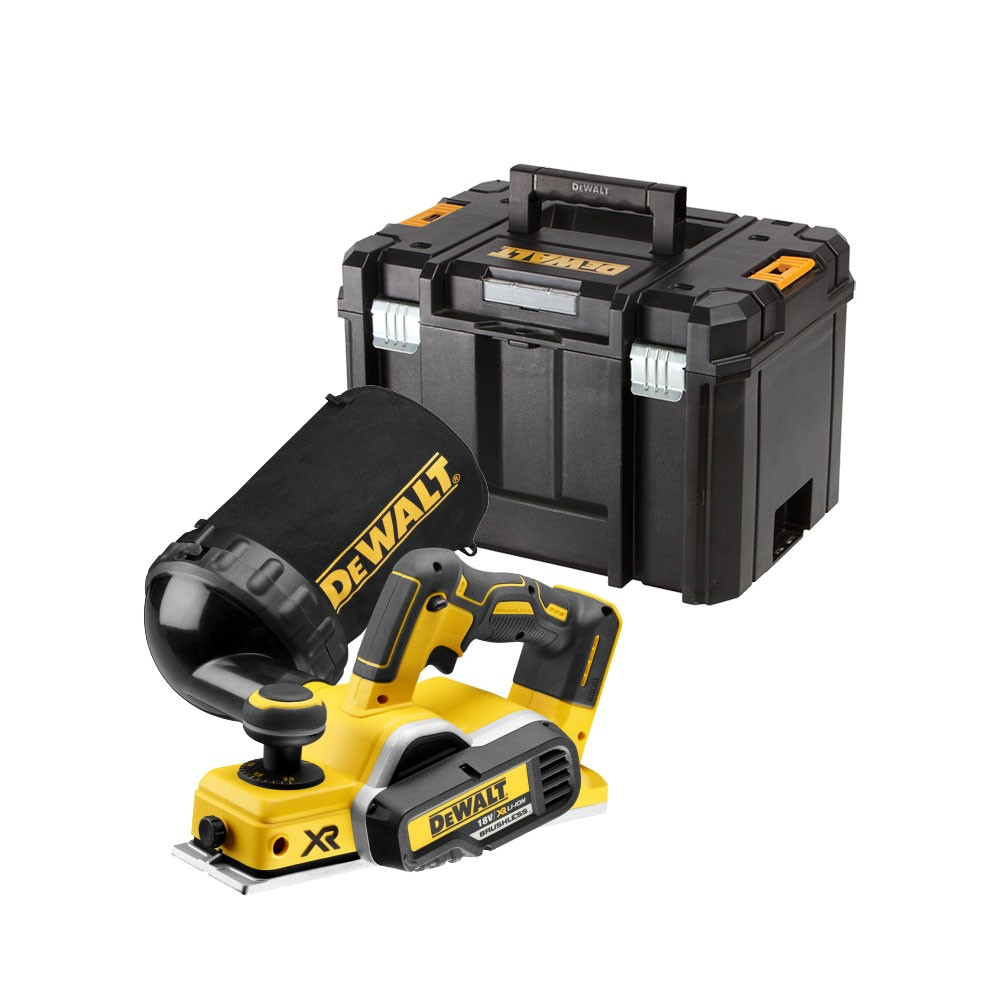 DeWalt DCP580NT Brushless XR 18v 82mm Cordless Planer Body Only inc DWV9390-XJ Dust Bag & TSTAK Case