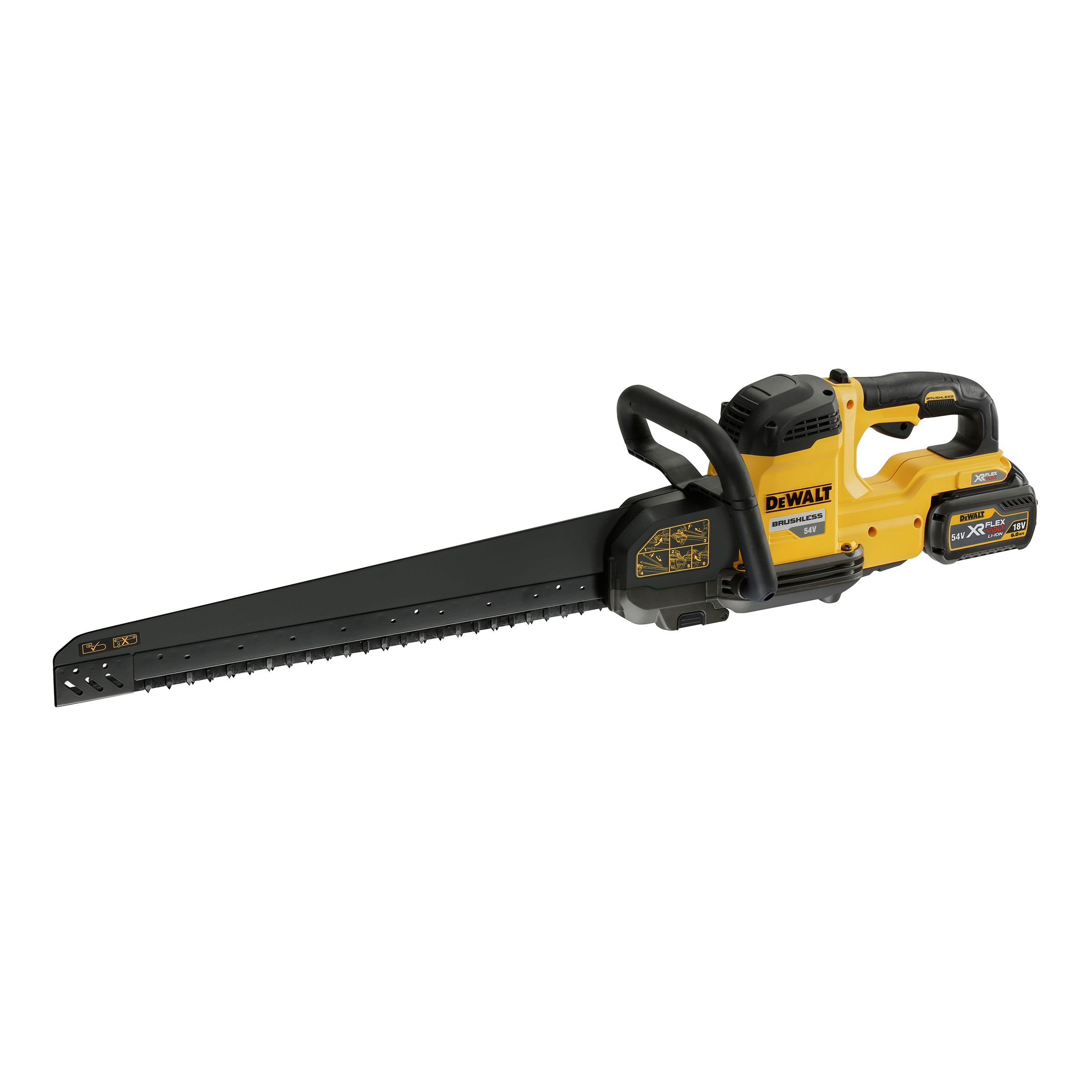 DeWalt DCS397T2 54v XR FLEXVOLT 425mm Long Bar Cordless Brushless Alligator Saw inc 2x DCB546 Batts
