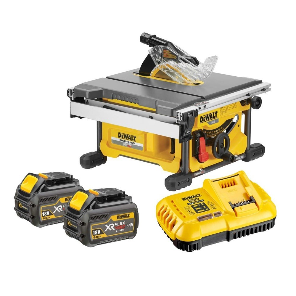 DeWalt DCS7485T2 54v XR FLEXVOLT Cordless Brushless Table Saw inc 2x DCB546 Batts