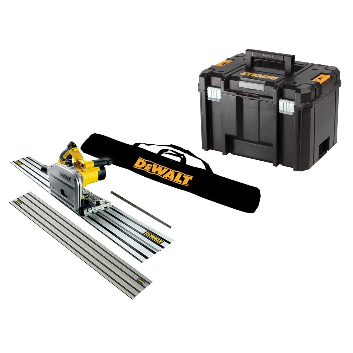 DeWalt DWS520KTL Plunge Saw in TSTAK Case + 2x Guide Rails & Bag 240v