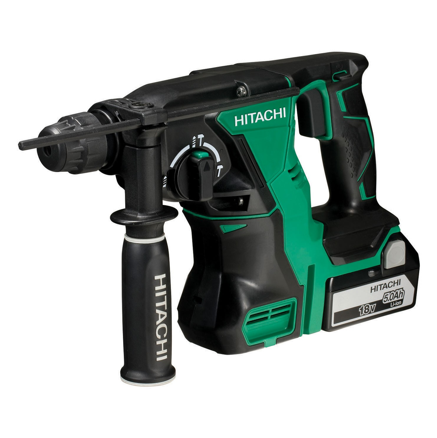 Hitachi DH18DBL/JP 18v Brushless Cordless SDS+ Plus Hammer Drill inc 2x 5.0Ah Batts
