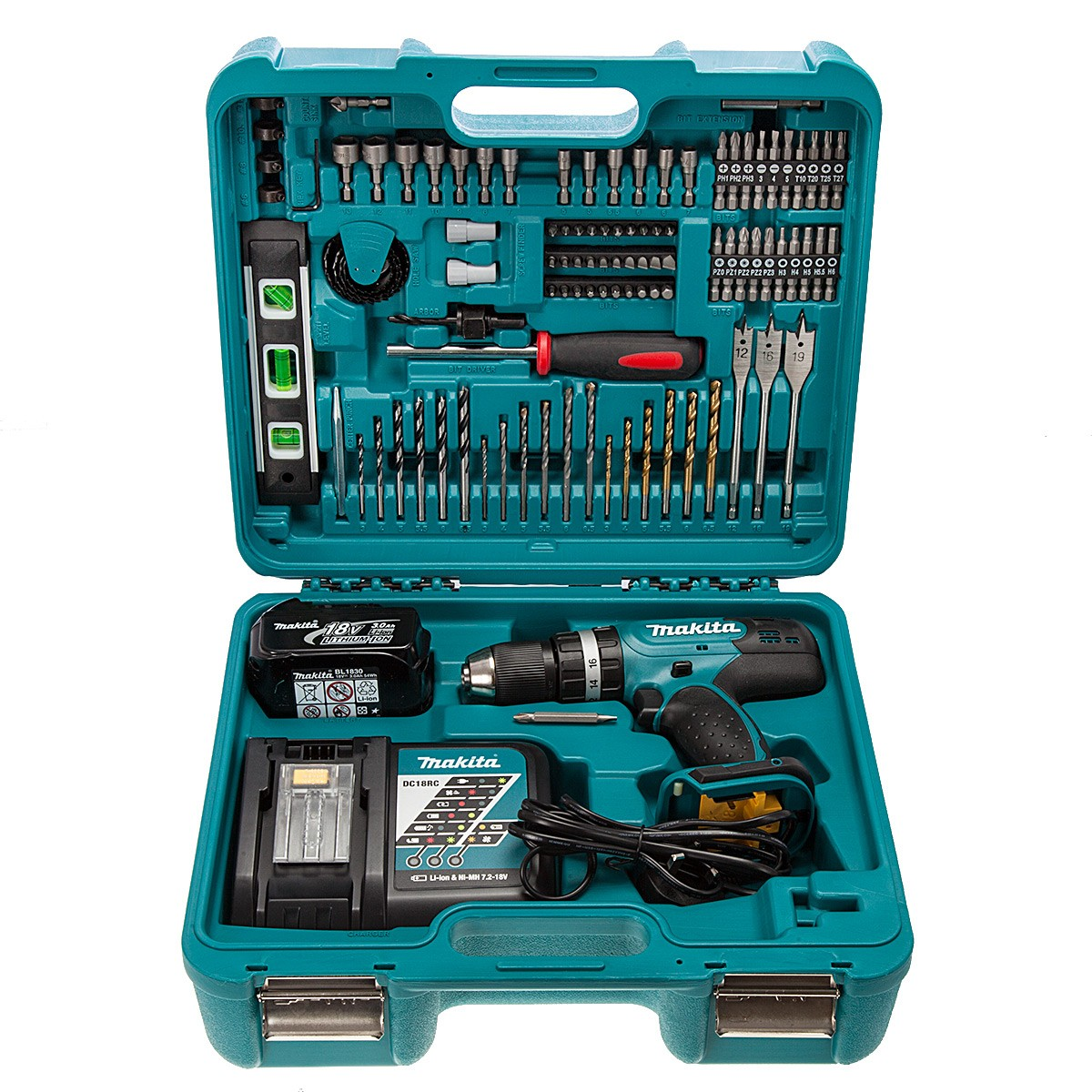makita dhp453rftk lxt cordless 18v li ion combi drill 1 x. Black Bedroom Furniture Sets. Home Design Ideas