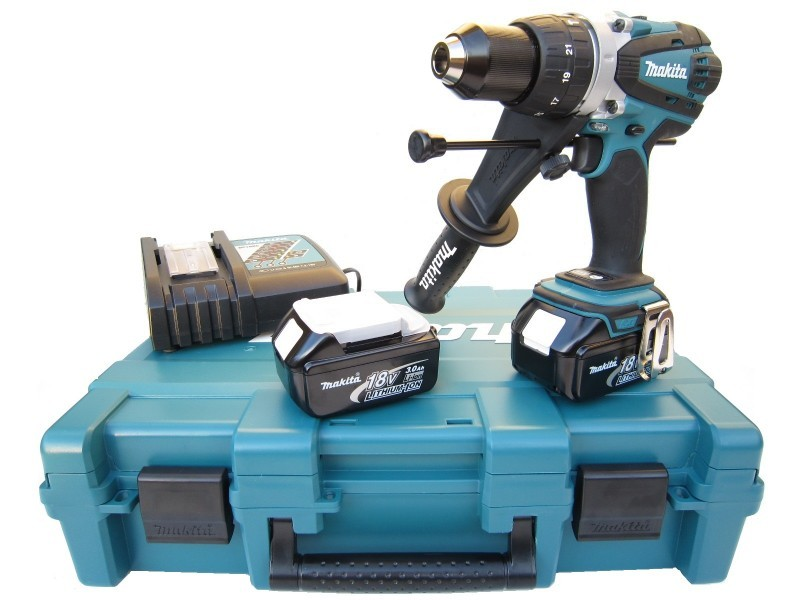 Makita DHP458RFE 18v Combi Drill with 2x 3.0Ah Batts