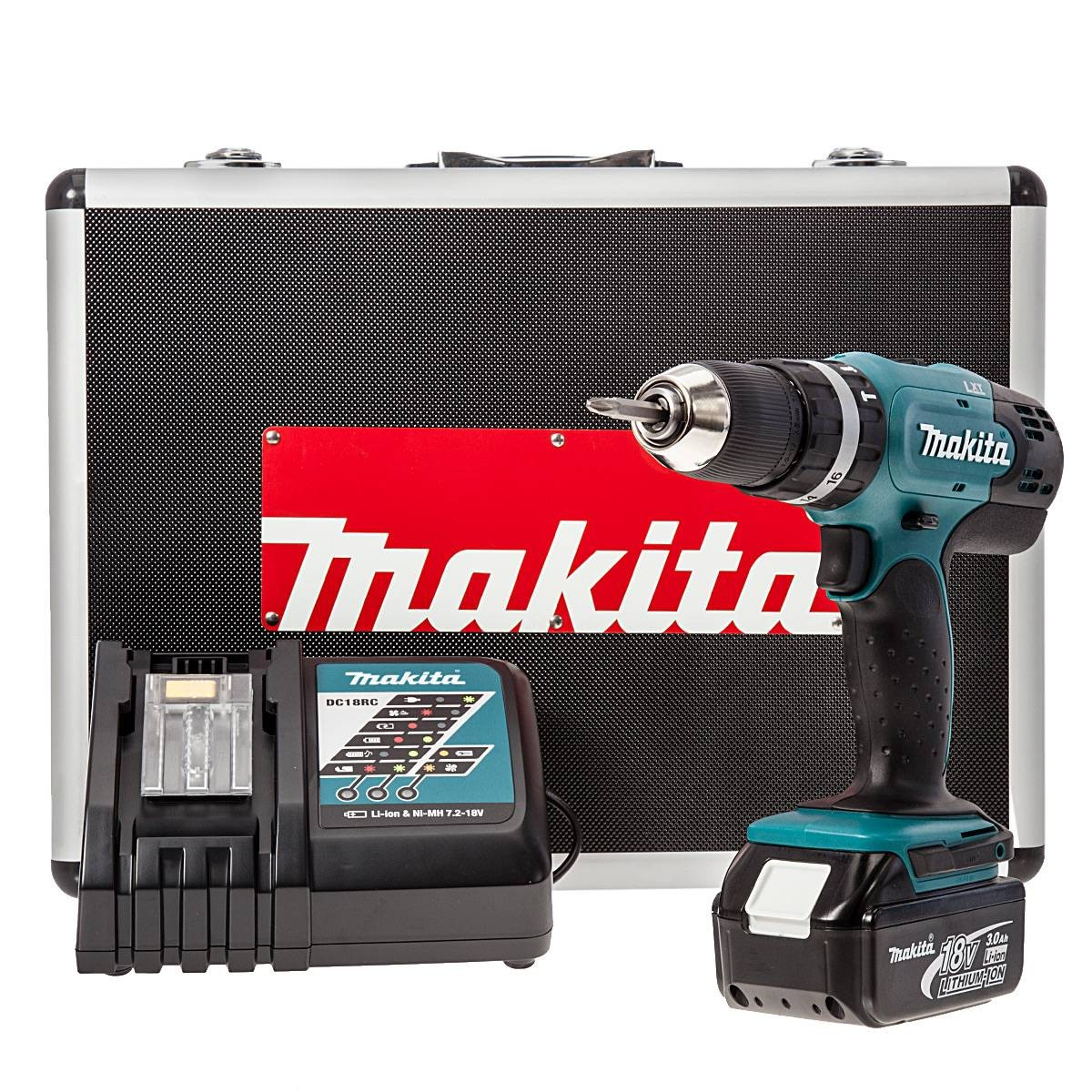 Makita DHP453RFX Cordless 18V Li-Ion Combi Drill (1 x 3.0Ah Battery) in Metal Carry Case