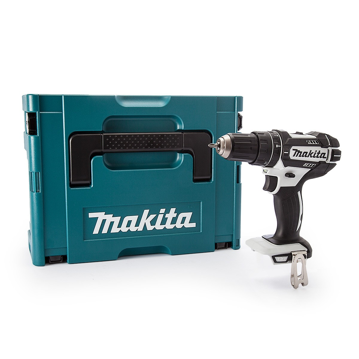 Makita DHP482WZJ 18v LXT 2-Speed Combi Drill White Body Only in Makpac Type 2 Case