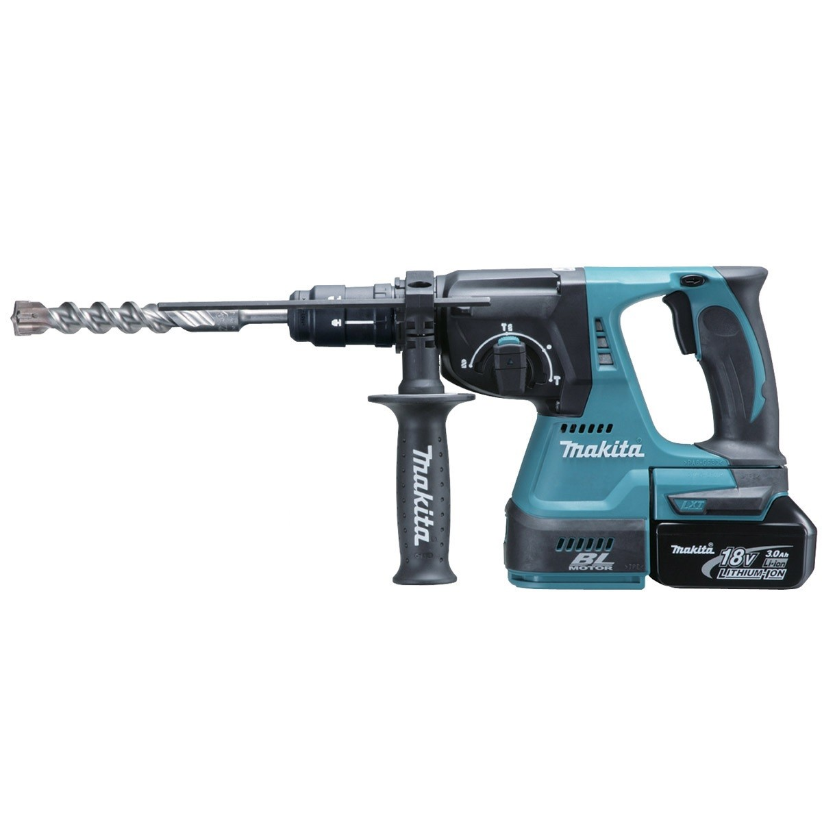 Makita DHR243RFE 18v 24mm SDS+ Plus Brushless Cordless Rotary Hammer Drill inc 2x 3Ah Batts