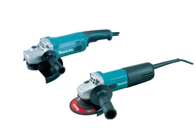 Makita DK0004 Twin Pack GA9050 230mm + 9554NB 115mm Angle Grinders 240v