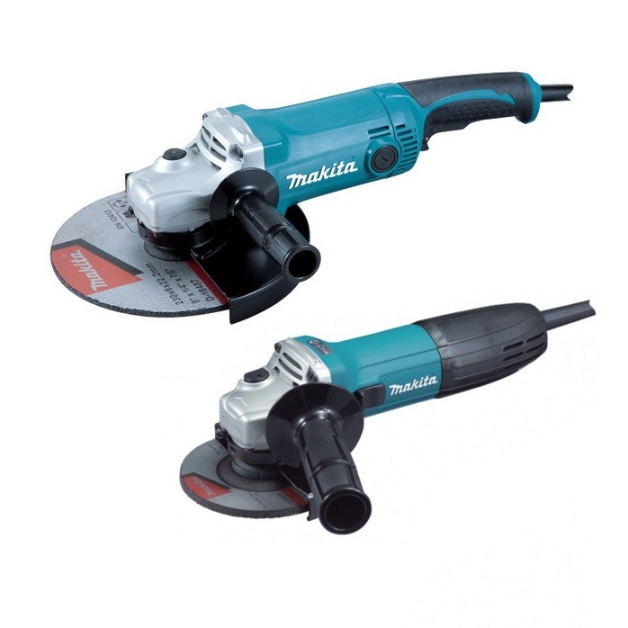 Makita DK0056Z1 Angle Grinder Twin Pack inc GA9050 230mm & GA4530R 115mm