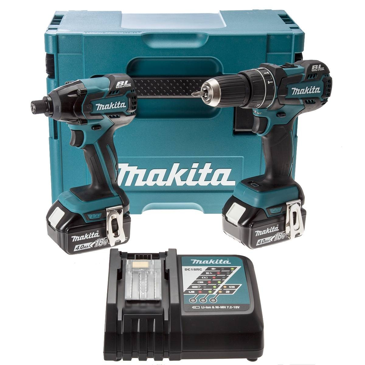 Makita DLX2002MJ 18v Li-ion Brushless Twin Kit Inc. 2 x 4.0Ah Batts