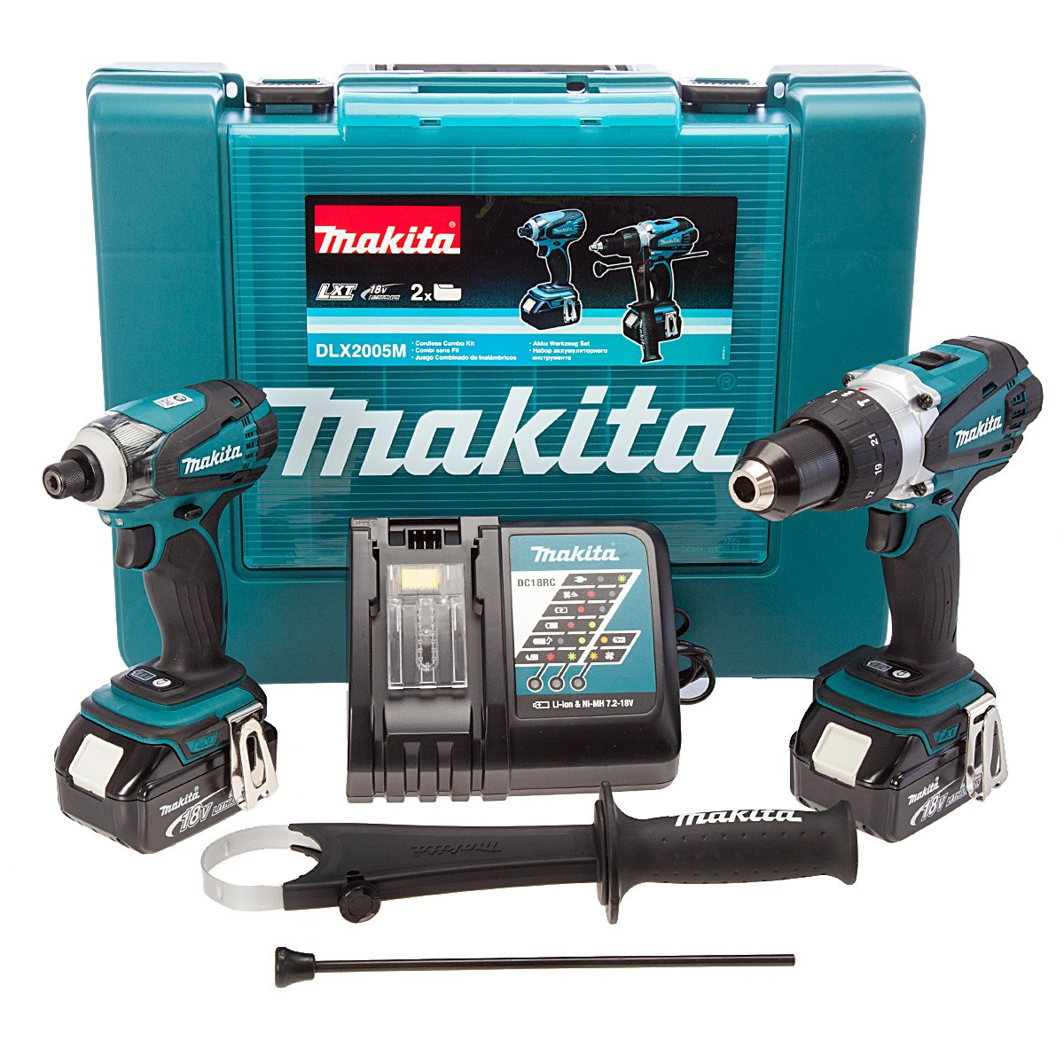 makita dlx2005m 18v cordless kit combi driver powertool world. Black Bedroom Furniture Sets. Home Design Ideas