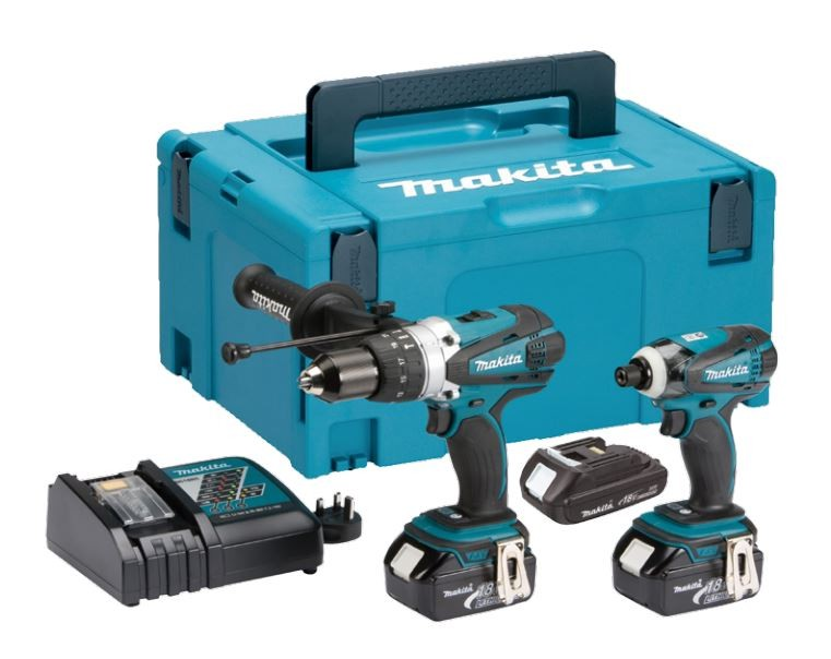 Makita DLX2005MAJ 18v Impact Driver/Combi Drill Kit inc 2x 4Ah Batts & 1x 2.0Ah Batt in Makpac Case