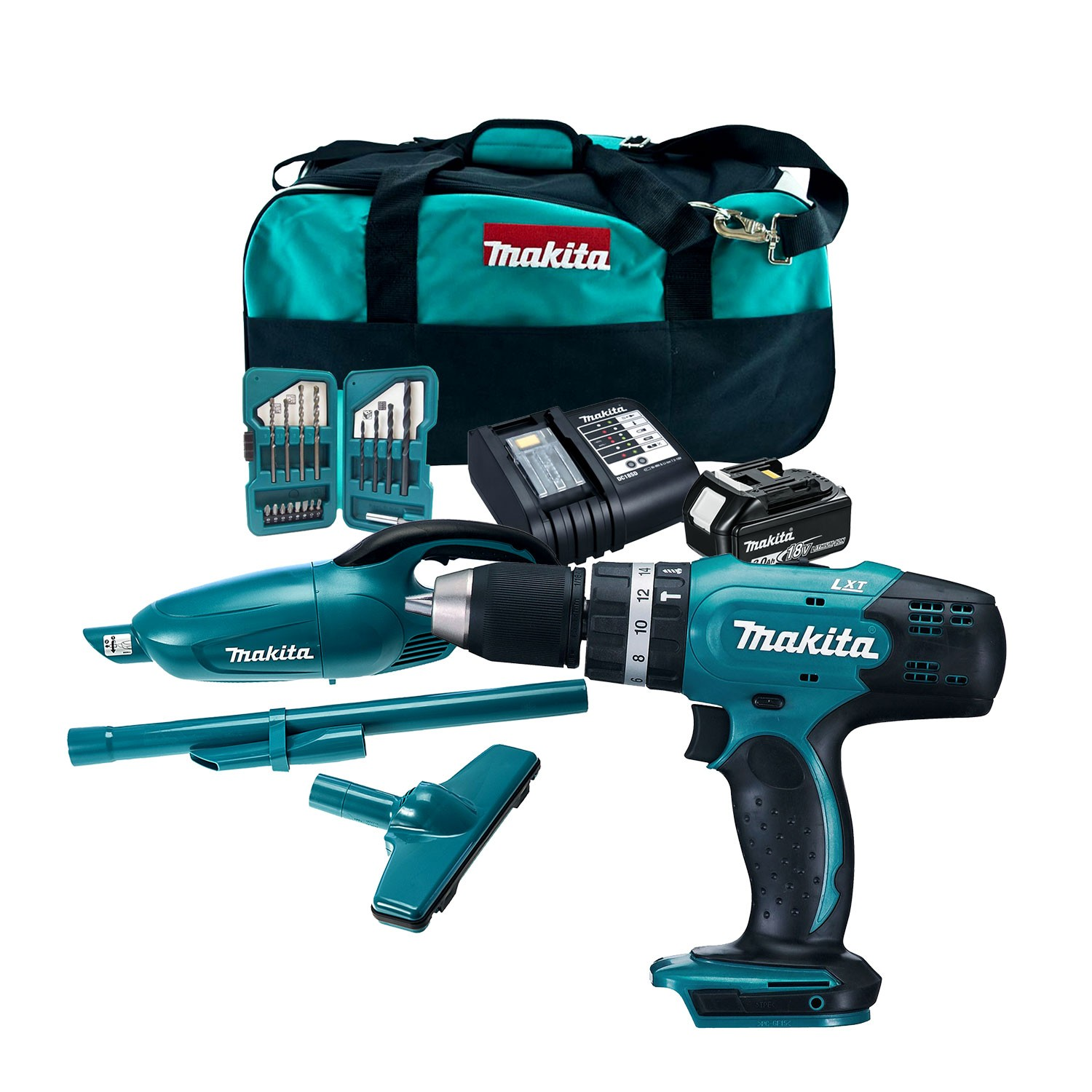 makita dlx2056sx1 18v twin kit inc dhp453 combi drill. Black Bedroom Furniture Sets. Home Design Ideas