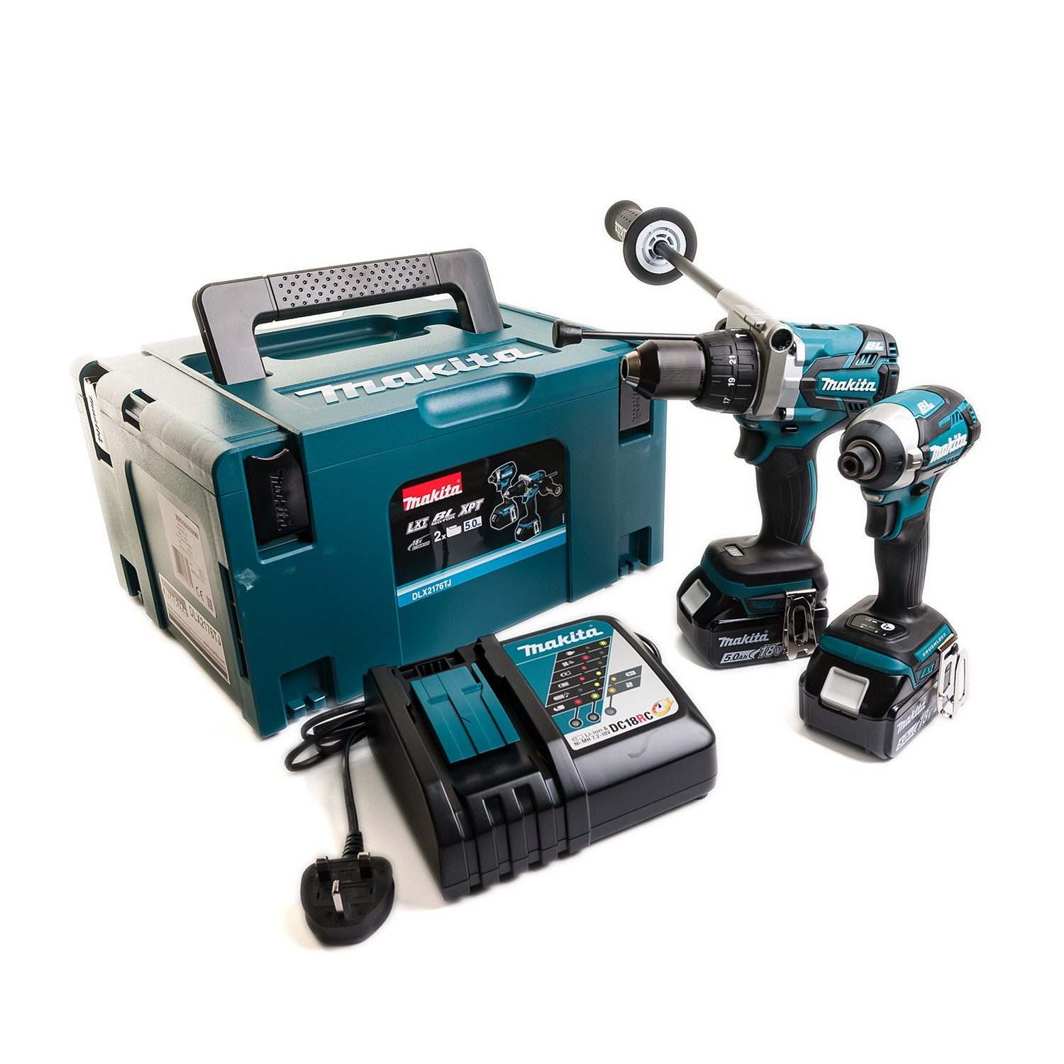 Makita DLX2176TJ 18v Brushless Impact Driver/Combi Drill Twin Kit inc 2x 5.0Ah Batts