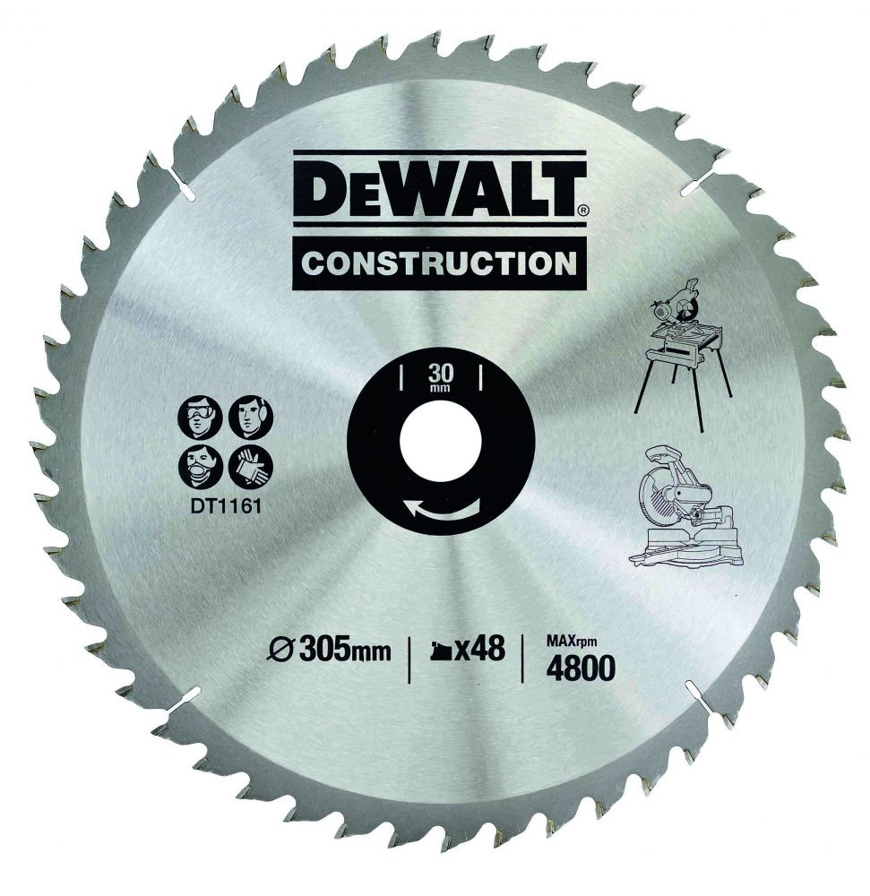 DeWalt DT1161-QZ Circular Saw Blade Construction 305mm x 30mm x 48 Teeth