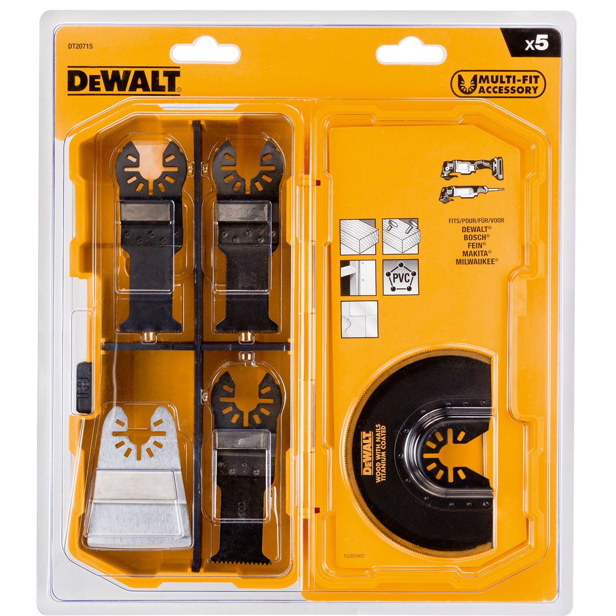 DeWalt DT20715-QZ 5 Piece Oscillating Tool Set