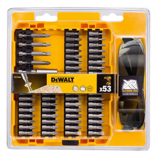 DeWalt DT71540-QZ Extreme Screwdriver Bit Set 53 Pcs inc Safety Glasses